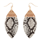 Snake Print Marquise Earrings