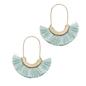 Mint Metal Tassel Earrings