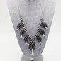 Black Silver Navajo Pearl Squash Necklace Set