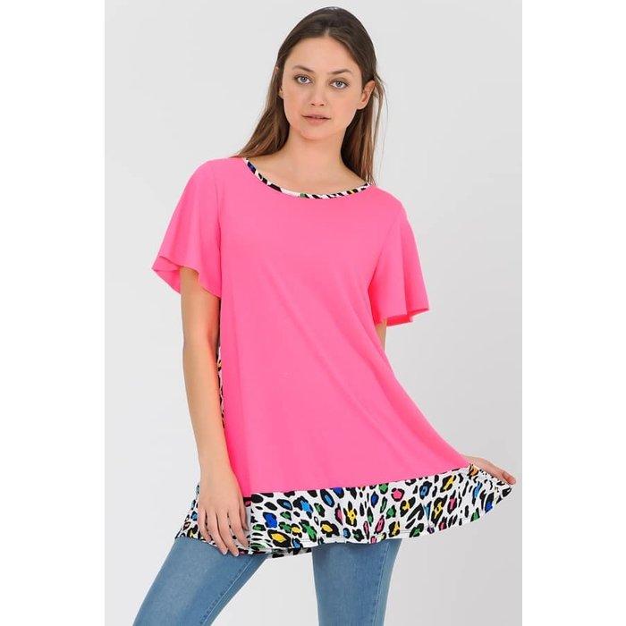 PLUS Neon Pink Multi Leopard Tunic