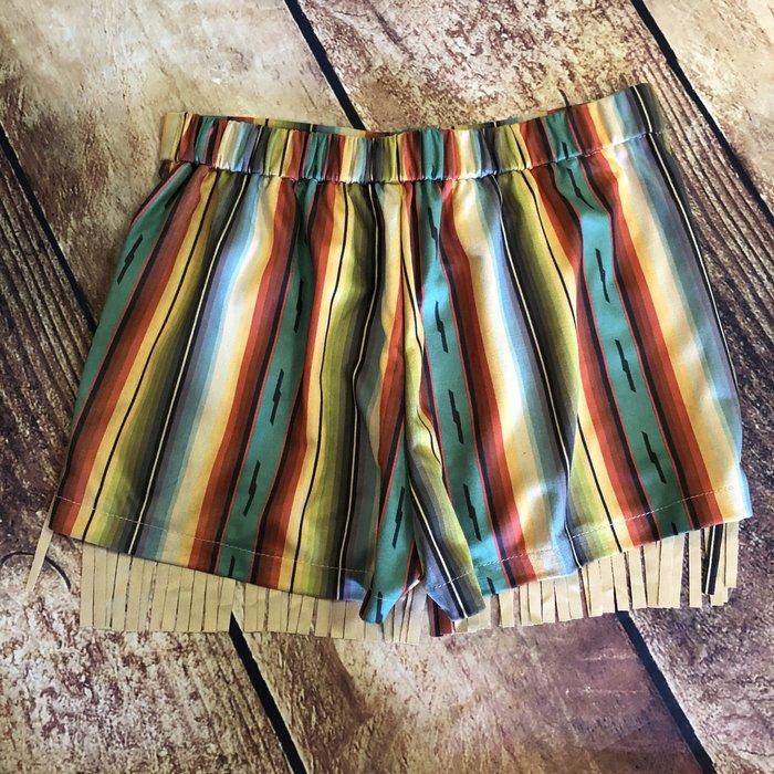 Serape Fringe Shorts