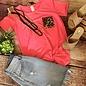 Neon Pink Leopard Pocket Knotted Hem Top