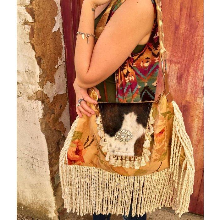 Keep It Gypsy Cow Hide Handbag