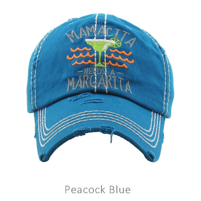 Peacock Blue Mamacita Needs Margarita Hat