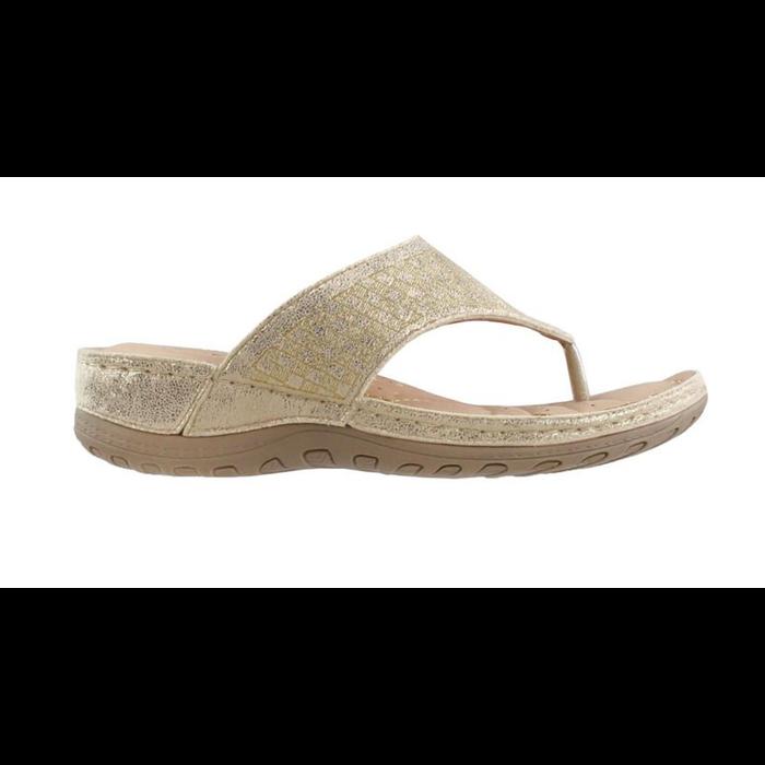 Gold Roman Flip Flop