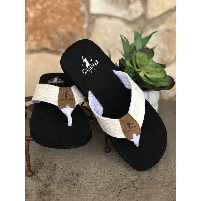 White Lumi Flip Flop