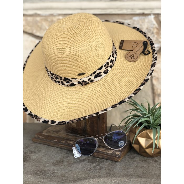 Leopard Print Sun Hat