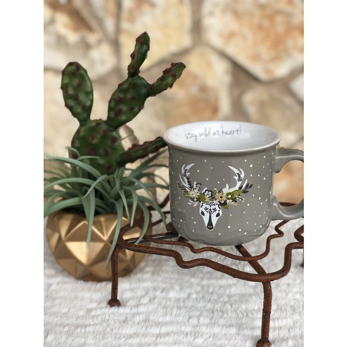 Stay Wild At Heart Deer Ceramic Coffee Mug