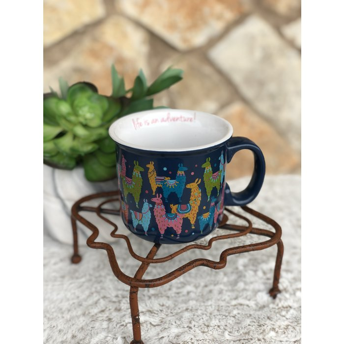 Life Is An Adventure Llama Ceramic Coffee Mug