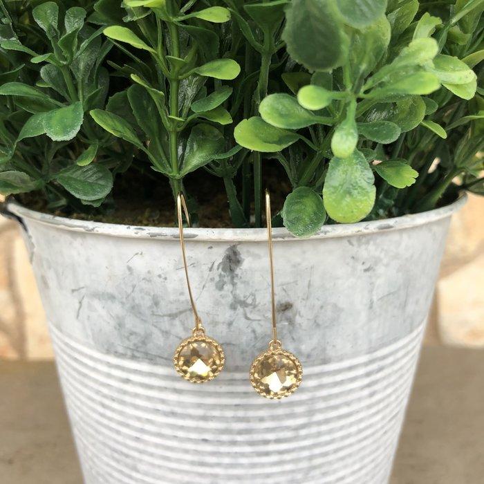Light Colorado Diamond Gold Dangle Earrings