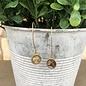 Abalone Diamond Gold Dangle Earrings
