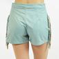 Mint Faux Suede Side Fringe Shorts