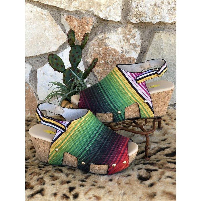 Serape Picadillo Wedge Sandal
