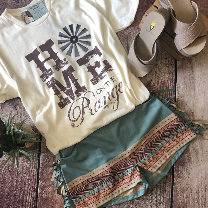 Mint Faux Suede Side Fringe Shorts