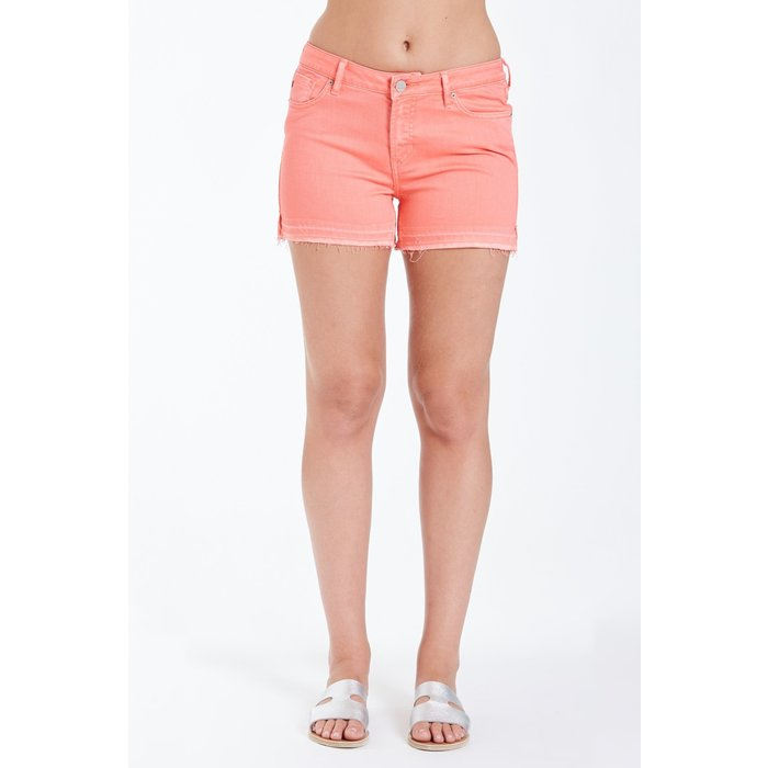 Bright Coral Gigi Highrise Shorts