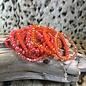 9 Strand Orange Crystal Stretch Bracelet Set