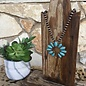 Turquoise Small Squash on Bronze Navajo Pearl Necklace