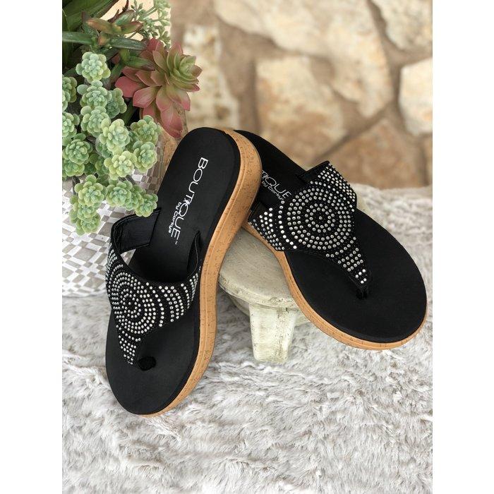 Rowley - Black Flip Flops
