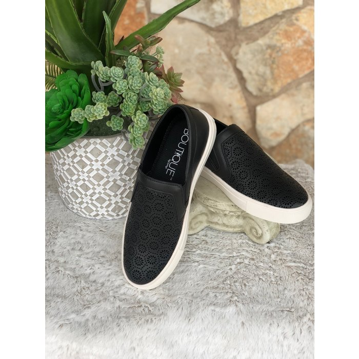Darlene - Black Slip On Sneakers