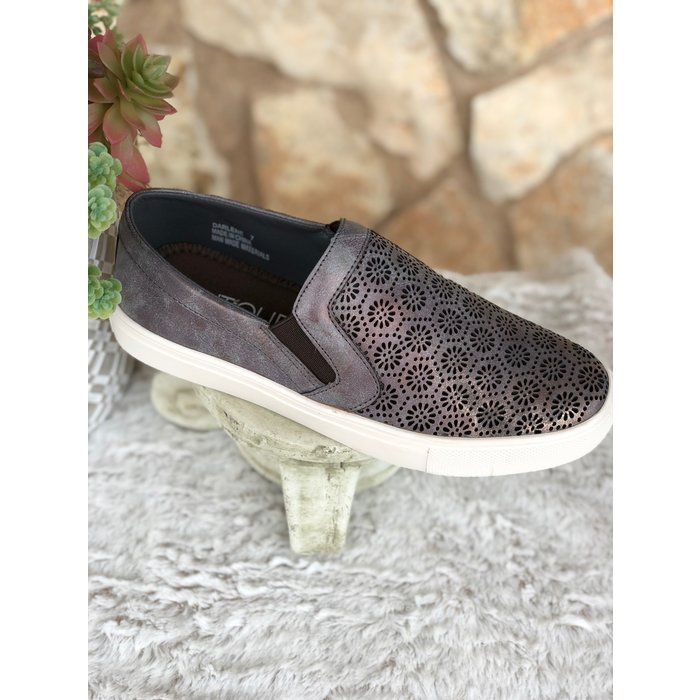 Darlene - Brushed Bronze Slip On Sneakers