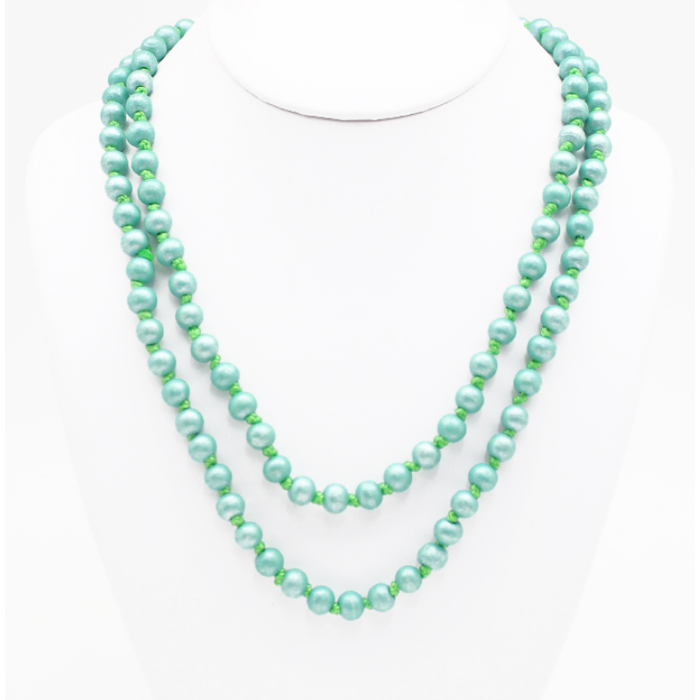 "Mint 60"" Round Beaded Necklace"
