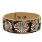 Copper Concho Leopard Snap Bracelet