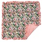 """Coral Leopard Floral Baby Blanket 32""""X32"""""""