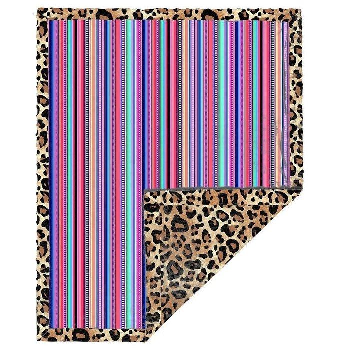 Serape Leopard Baby Blanket
