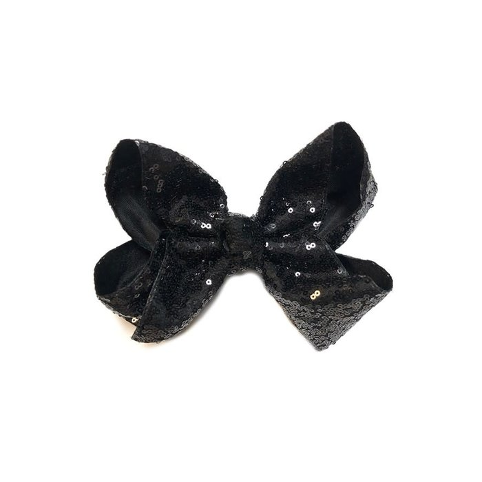 Black Sequin Hair Bow