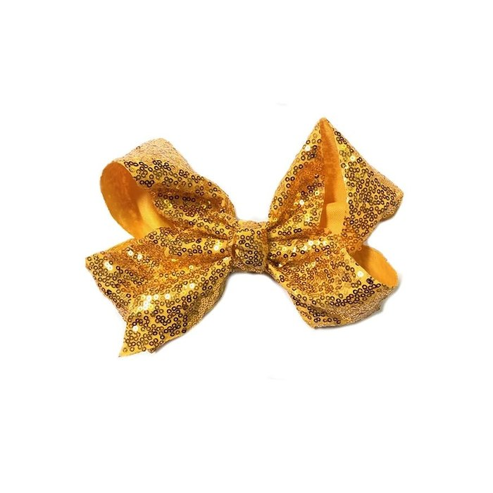 Mustard Sequin Hair Bow