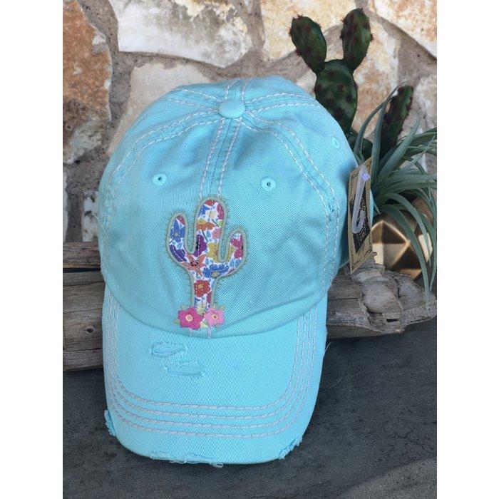 Diamond Blue Cactus Baseball Cap