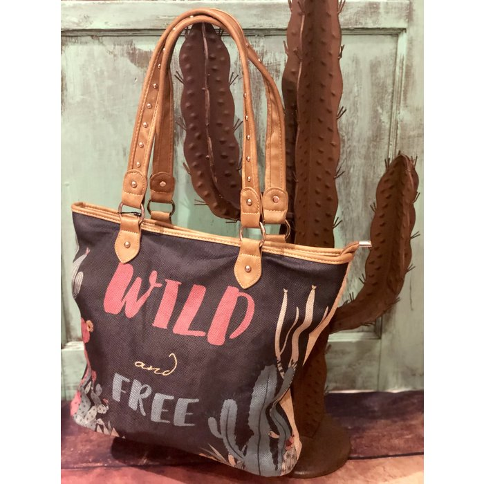 Wild & Free Canvas Tote Bag