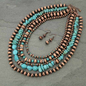 "24"" Multi Layered Navajo Style Pearl Necklace Set"
