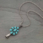 3D - Turquoise Single Squash Drop Necklace