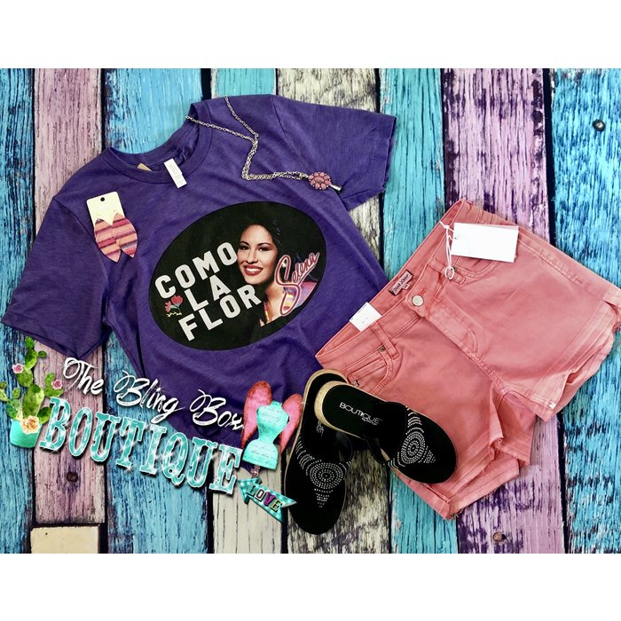 Purple Selena Como La Flor T-Shirt