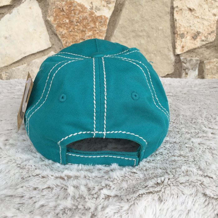 Turquoise Blessed Cap