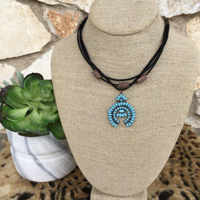 Turquoise Squash Choker Necklace