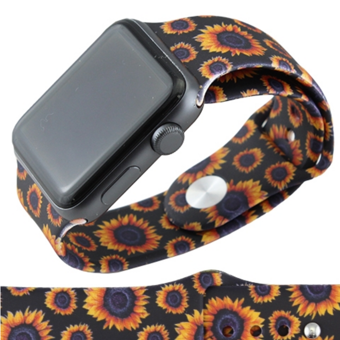Sunflower 38mm Rubber Watch Band