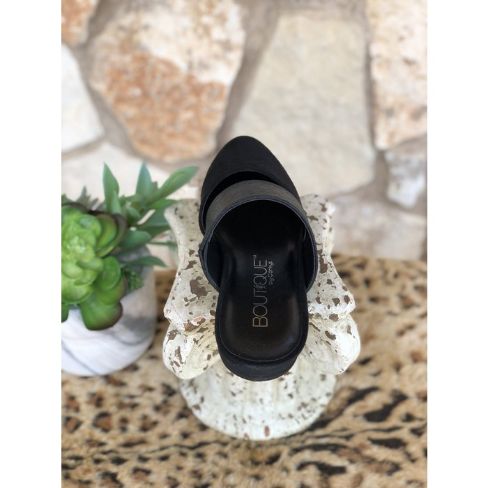 Black Corina Flat Dress Shoe