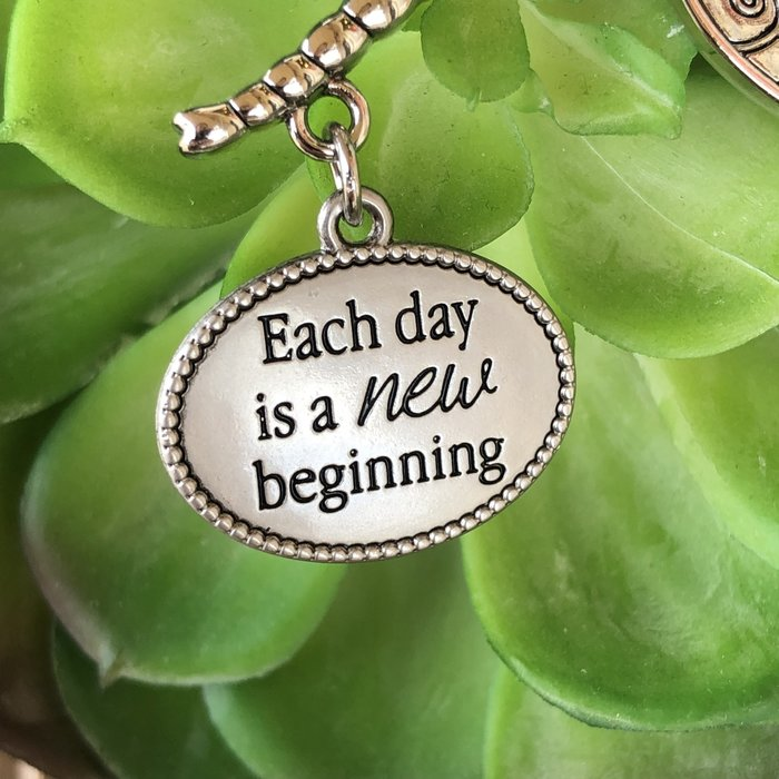 Each Day is a New Beginning Dragonfly Ornament