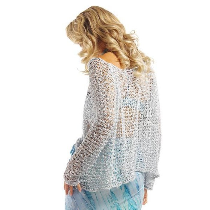 ONE SIZE - Stone Crocheted Long Sleeve Top