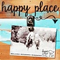 Happy Place 8x8 Reclaimed Wood Clip Frame