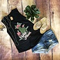 Wild Flower Cactus Black Freedom Tank