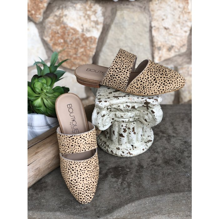 Carina Brown Speckled Slides
