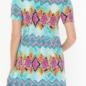 Neon Snake Skin Print Criss Cross Top