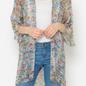 PLUS Grey Multi Snake Skin Kimono
