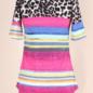 Multi Striped Leopard Short Sleeve Top