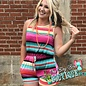 Serape Striped Print Romper