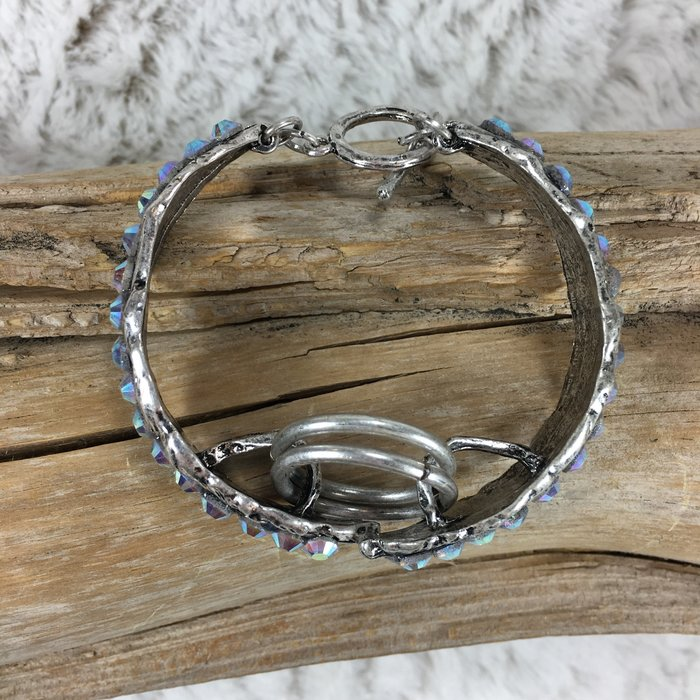 Silver Feather Bling Bracelets