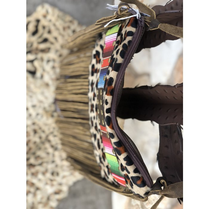 LV Serape Leopard Fringe Keep It Gypsy Crossbody